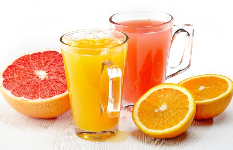 Concentrated citrus juice and cells